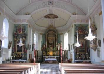 Pfarrkirche Biberwier Innenraum