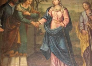 Altarblatt Maria Heimsuchung (Ausschnitt)