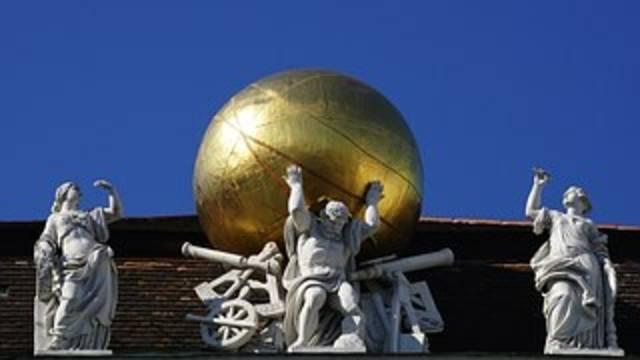 Auf dem Bild ist die Hofburg von Wien zu sehen.