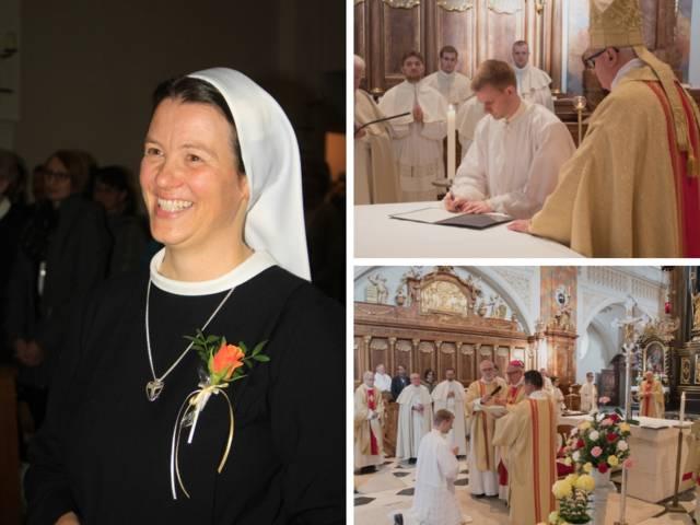 Professfeiern bei den Barmherzigen Schwestern Zams und im Prämonstratenser-Stift Wilten