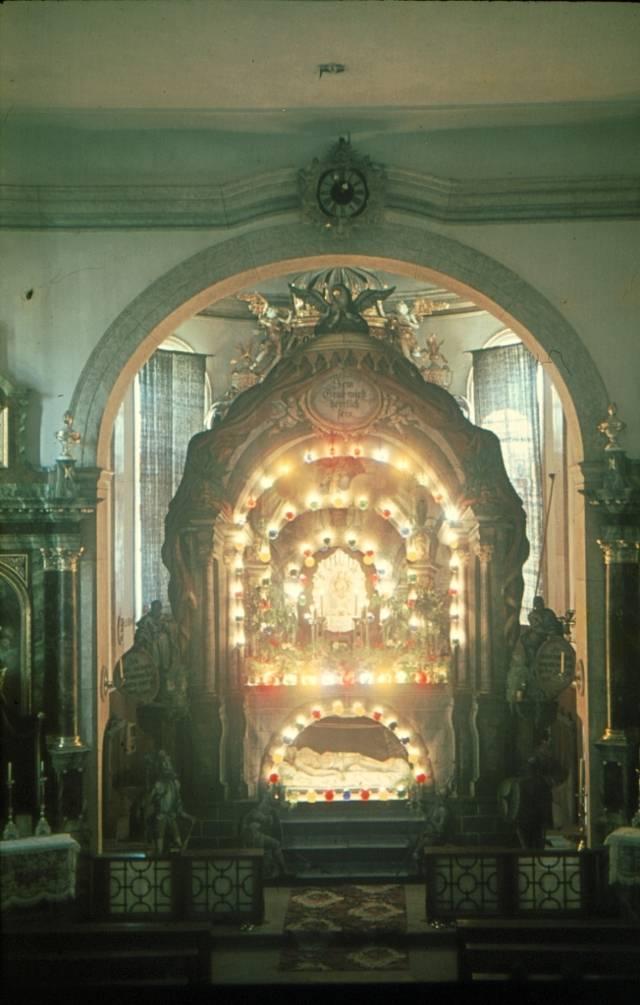Heiliges Grab auf einer historischen Aufnahme