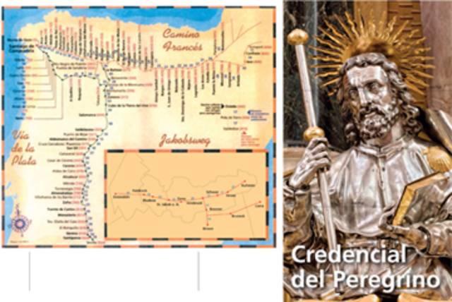 """Der Pilgerpass (Credencial del Pelegrino) der Jakobsgemeinschaft Tirol ist vom Pilgerbüro in Santiago de Compostela anerkannt und berechtigt dort zur Ausstellung der Pilgerurkunde (""""Compostela"""")."""